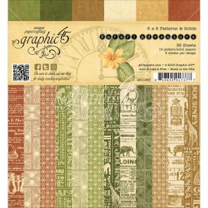 "Graphic 45 Safari Adventure Paper Pad 6""X6"" 36/Pkg"