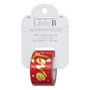 Red Foil Love Tape