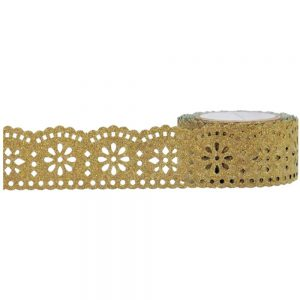 Glitter Lace Gold Tape